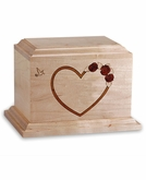 At Home In Our Hearts - Wood Infant Cremation Urn - Engravable