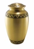 Athena Bronze Brass Cremation Urn - Engravable
