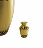 Athena Bronze Brass Keepsake Cremation Urn - Engravable
