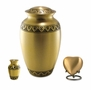 Athena Bronze Heart Brass Keepsake Cremation Urn - Engravable