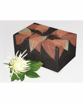 Autumn Leaves Biodegradable Memory Cremation Urn