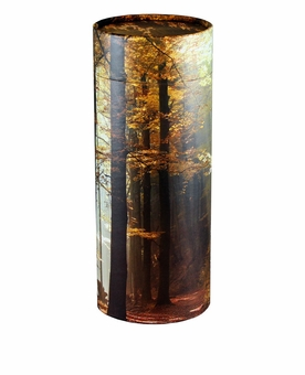 Autumn Woods Eco Friendly Cremation Urn Scattering Tube in 2 sizes
