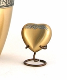 Avalon Bronze Brass Heart Keepsake Cremation Urn - Engravable