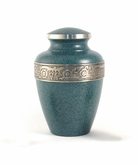 Avalon Evening Blue Brass Cremation Urn - Engravable