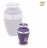 Awareness Purple Ribbon Keepsake Cremation Urn