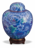 Azure Blue Keepsake Medium Cloisonne Cremation Urn
