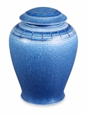 Azure Hand-Thrown Porcelain Vase Cremation Urn