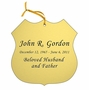 Badge Double-Sided Memorial Ornament - Engraved - Gold
