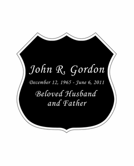 Badge Nameplate - Engraved Black and Silver - 2-3/4  x  2-3/4
