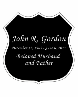 Badge Nameplate - Engraved Black and Silver - 3-1/2  x  3-1/2