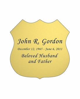 Badge Nameplate - Engraved - Gold - 2-3/4  x  2-3/4