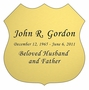 Badge Nameplate - Engraved - Gold - 3-1/2  x  3-1/2
