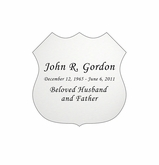 Badge Nameplate - Engraved - Silver - 1-7/8  x  1-7/8