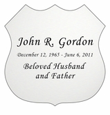 Badge Nameplate - Engraved - Silver - 3-1/2  x  3-1/2