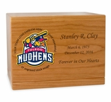 Baseball  Cremation Urn - Solid Cherry Wood 1