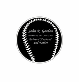 Baseball Nameplate - Engraved Black and Silver - 1-7/8  x  1-7/8