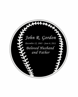 Baseball Nameplate - Engraved Black and Silver - 2-3/4  x  2-3/4