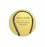 Baseball Nameplate - Engraved - Gold - 1-7/8  x  1-7/8