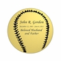 Baseball Nameplate - Engraved - Gold - 2-3/4  x  2-3/4