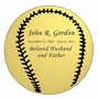 Baseball Nameplate - Engraved - Gold - 3-1/2  x  3-1/2