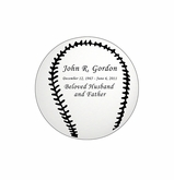 Baseball Nameplate - Engraved - Silver - 1-7/8  x  1-7/8
