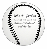 Baseball Nameplate - Engraved - Silver - 3-1/2  x  3-1/2