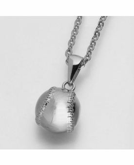 Baseball Stainless Steel Cremation Jewelry Pendant