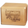 Beach Scene Classic Maple Wood Cremation Urn