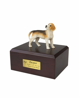 Beagle Dog Figurine Pet Cremation Urn - 012