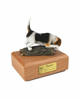 Beagle Dog Figurine Pet Cremation Urn - 1518