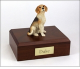 Beagle Dog Figurine Pet Cremation Urn - 313