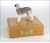 Bedlington Terrier Dog Figurine Pet Cremation Urn - 314