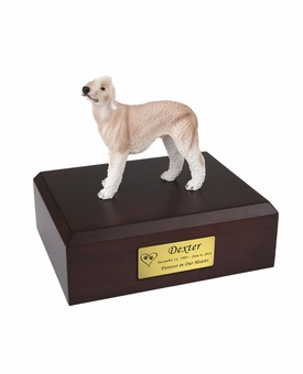 Bedlington Terrier Dog Figurine Pet Cremation Urn - 316
