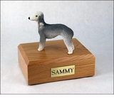 Bedlington Terrier Dog Figurine Pet Cremation Urn - 543