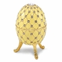 Bejeweled Antiqued Ivory Royal Musical Egg Keepsake Box
