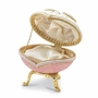 Bejeweled Authentic Goose Egg Crystal Butterfly Music Keepsake Box