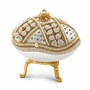 Bejeweled Authentic Goose Egg Floral Crystal Music Keepsake Box