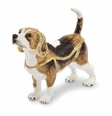 Bejeweled Beagle Keepsake Box