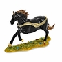 Bejeweled Black Stallion Keepsake Box