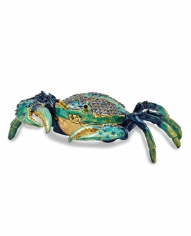 Bejeweled Blue Crab Keepsake Box