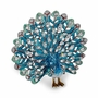 Bejeweled Blue Peacock Keepsake Box