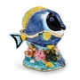 Bejeweled Blue Tang Fish Keepsake Box