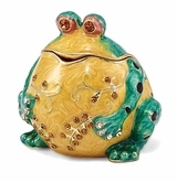 Bejeweled Bubba The Bullfrog Keepsake Box