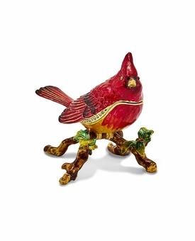 Bejeweled Cardinal Keepsake Box
