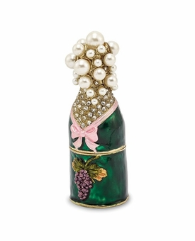 Bejeweled Celebrate Champagne Bottle Keepsake Box