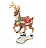 Bejeweled Christmas Reindeer Keepsake Box
