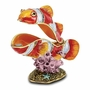 Bejeweled Clown Fish In Coral Keepsake Box