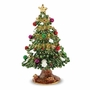 Bejeweled Deck The Halls Christmas Tree Keepsake Box