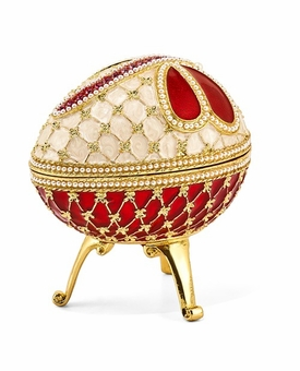 Bejeweled Dragonfly Musical Egg Keepsake Box