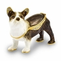 Bejeweled French Bulldog Keepsake Box